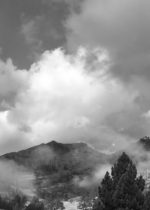 Photo of Squaw Valley with clouds clearing. Writers Workshops